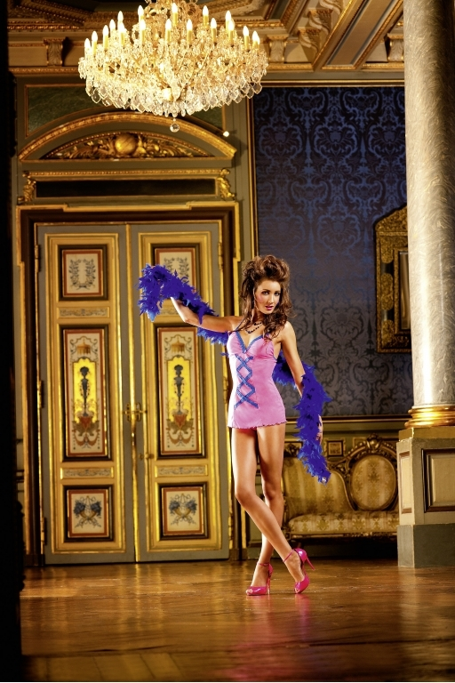 NeonBarock Мини-платье OS (42-46), неоновый розовый Это дерзкое и