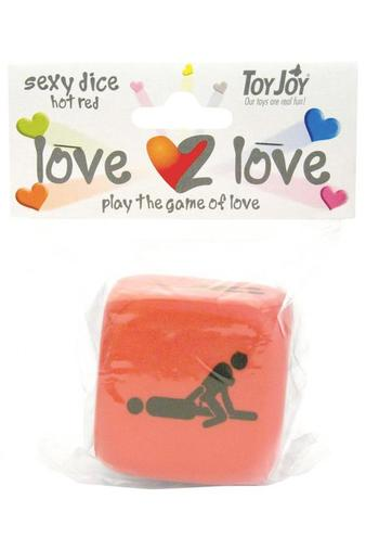 Кубик для игр LOVE2LOVE SEXY DICE RED