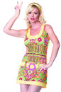 83504 sexy funky mod hippie costume large
