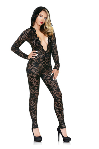 Кэтсьюит Mia Lace Hooded Jumpsuit